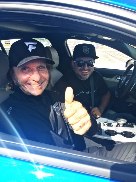 Racing Legend Emerson Gets First Drifting Experience in All-New 2018 Kia Stinger GT at SEMA Show