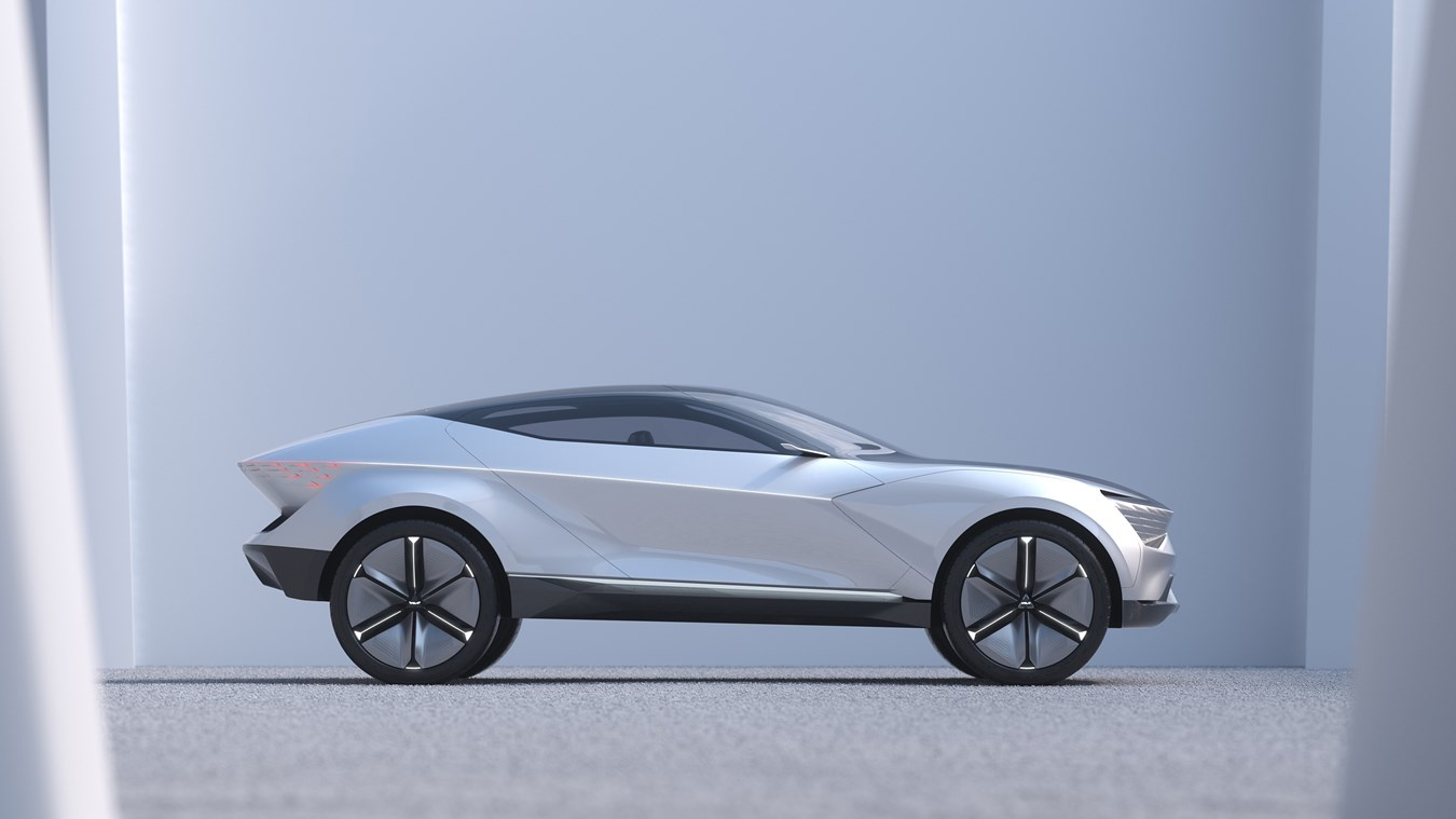 Kia's Futuron Concept proposes an illuminating new design for an electric SUV coupe