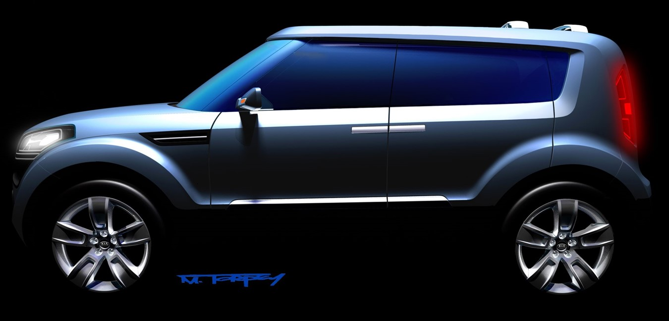 KIA RELEASES SKETCH OF ALL-NEW SOUL CONCEPT CAR