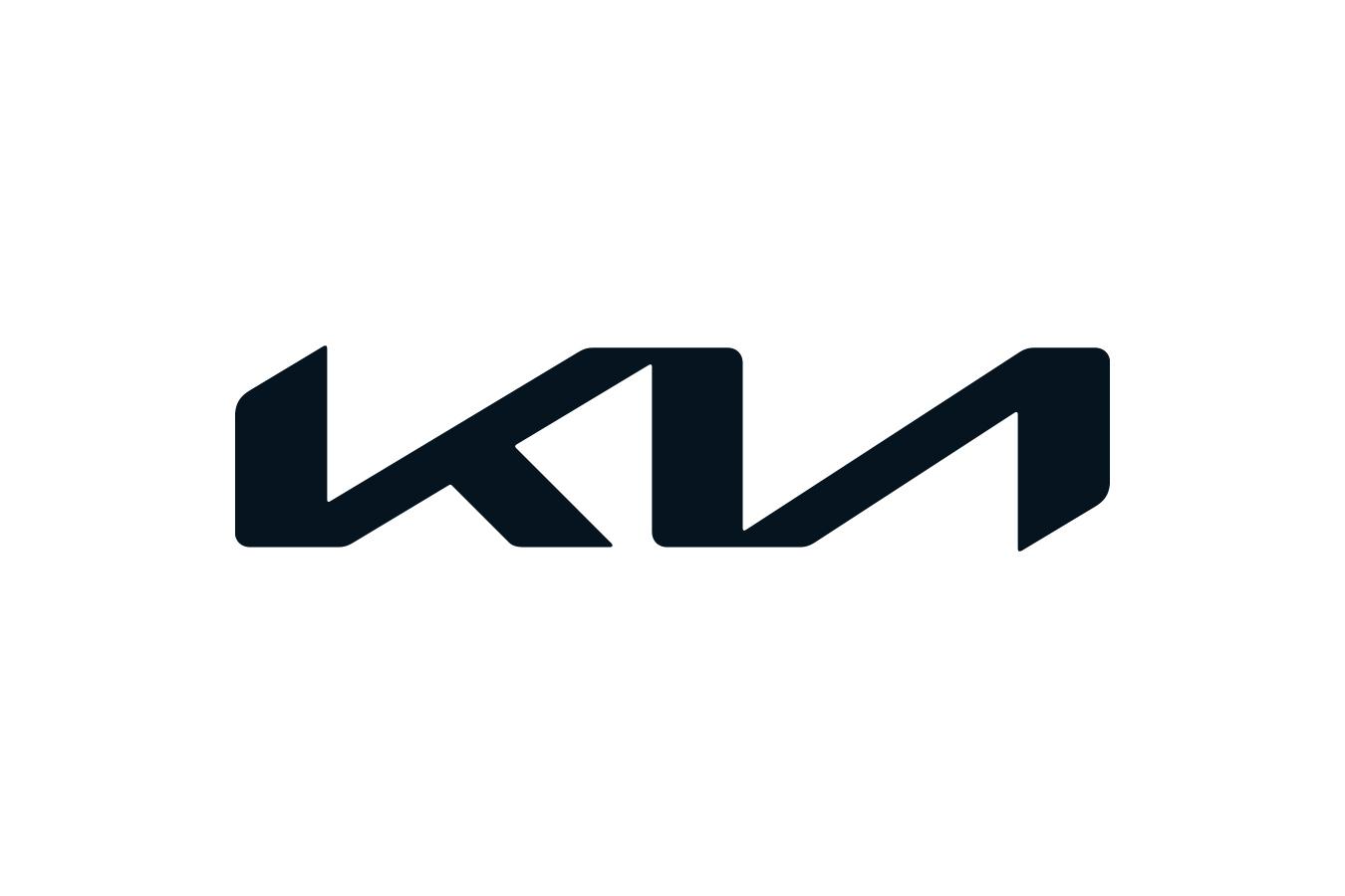 Tableau kia logo on a wet gray car • Posters et tableaux sur toile •