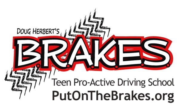 B.R.A.K.E.S. (Be Responsible And Keep Everyone Safe) Teen Pro-Active Driving School Logo