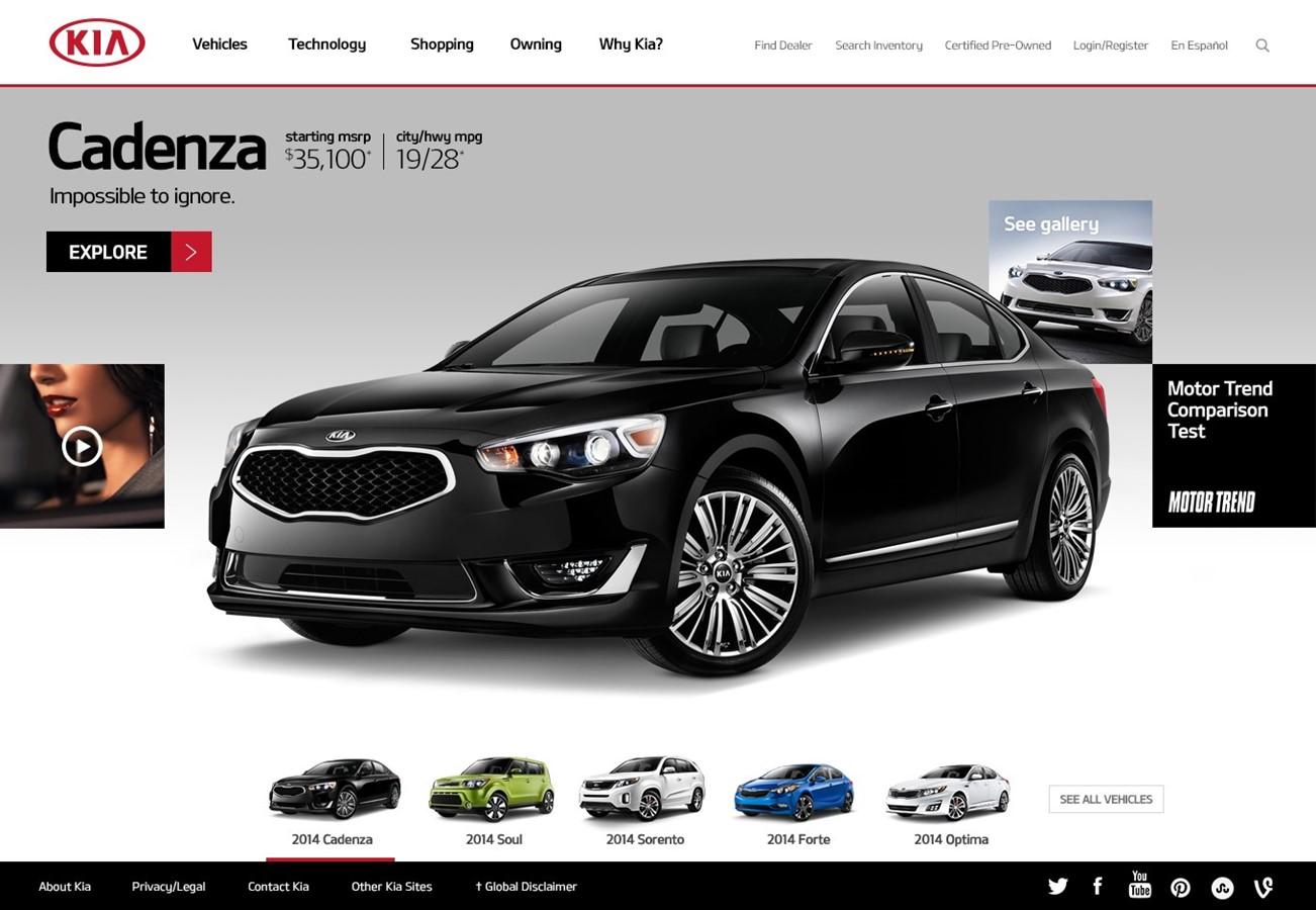 Kia motors america launches all new kia com with support for Kia motors of america