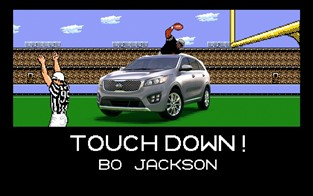 BO JACKSON AND BRIAN BOSWORTH GO HEAD-TO-HEAD ON THE  8-BIT GRIDIRON IN TECMO BOWL-INSPIRED AD CAMPAIGN FOR THE KIA SORENTO SUV