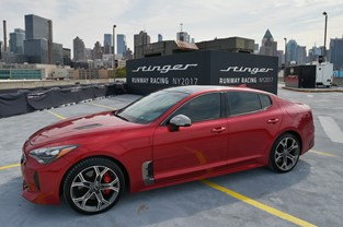 KIA MAKES THE ULTIMATE FASHION STATEMENT IN NEW YORK WITH STAR-STUDDED STINGER RUNWAY RACING CHALLENGE