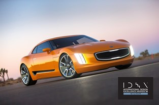Kia receives IDEA Silver for the sleekly sculpted GT4 Stinger concept car